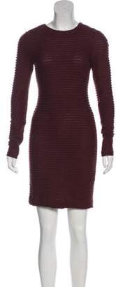 Kimberly Ovitz Ruffled Long Sleeve Dress Brown Ruffled Long Sleeve Dress