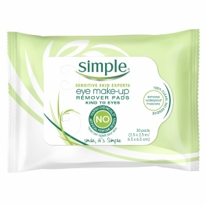 Simple Facial Care, Eye Make-Up Remover Pads