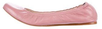 Vera Wang Leather Round-Toe Flats