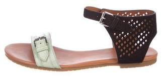 Marc by Marc Jacobs Leather Ankle-Strap Sandals w/ Tags