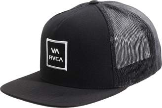 RVCA All The Way Trucker Snapback Hat + Sticker