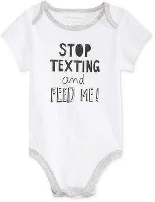 First Impressions Stop Texting Bodysuit, Baby Boys & Baby Girls (0-24 months), Only at Macy's $13 thestylecure.com
