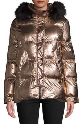 Sam Edelman Faux Fur-Trimmed Puffer Jacket