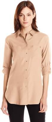 Calvin Klein Women's Roll Sleeve Tunic