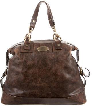 CelineCéline Distressed Leather Bag