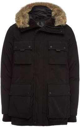 Belstaff Trialmaster Expedition Down Parka with Fur-Trimmed Hood