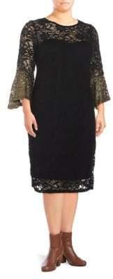Marina Bell Sleeve Lace Dress