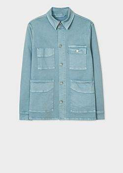 Paul Smith Men's Light Petrol Blue Stretch-Cotton Denim Chore Jacket