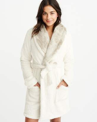 Abercrombie & Fitch Faux Fur Robe