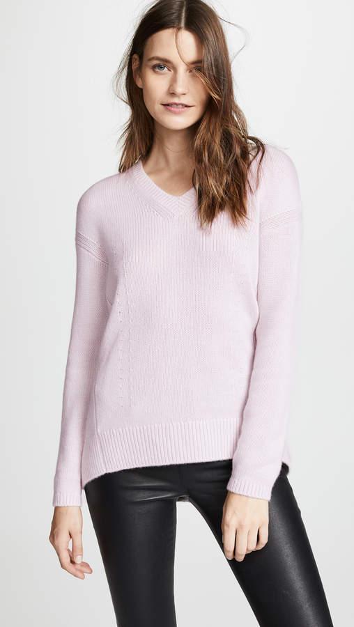 Cashmere Cocoon Back V Neck Sweater
