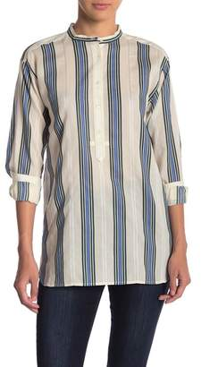 Vince Striped Relaxed Fit Shirt