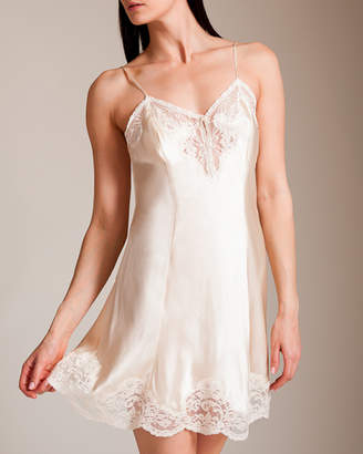 Woolrich Jane 83 Lace Silk Charmeuse Chemise