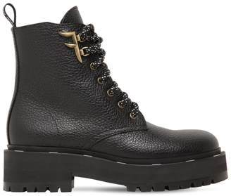 Fendi 50MM FREEDOM GRAINED LEATHER BOOTS