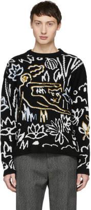Kenzo Black and White Sketch Memento Sweater