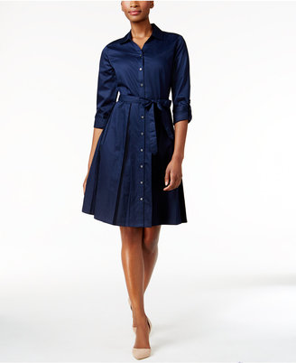 Charter Club Fit & Flare Shirt Dress, Only at Macy's $109.50 thestylecure.com