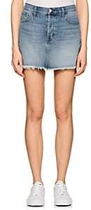 J Brand Women's Bonny Mid-Rise Denim Miniskirt - Md. Blue
