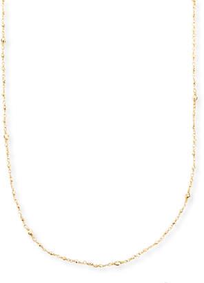 Mizuki 14k Gold-Beaded Station Necklace, 34