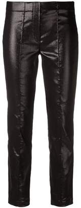 Luisa Cerano cropped metallized skinny trousers