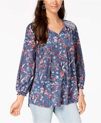 Style&Co. Style & Co. Floral-Print Peasant Top, Created for Macy's