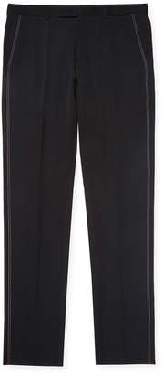 Christian Dior Solid Wool Trouser