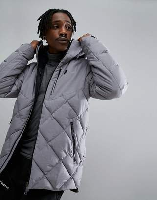 Peak Performance Alaska Melange Jacket In Gray