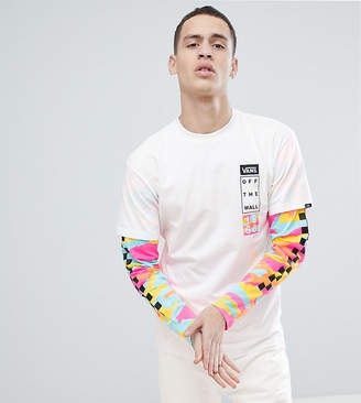 Vans Double Layer T-Shirt In White Exclusive To ASOS
