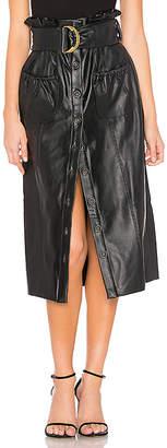 Tularosa Jenna Faux Leather Skirt