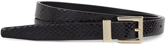 Reiss Blossom Leather Snake Patterned Belt