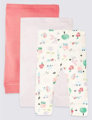 Marks and Spencer 3 Pack Pure Cotton Leggings