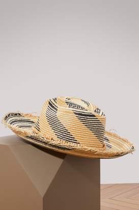 Sensi Studio Panama hat with tagua beads