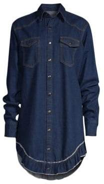 Caroline Constas Denim Shirt Dress