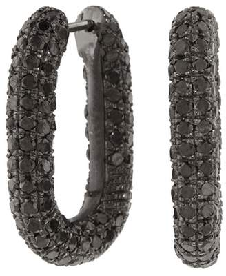 Black Diamond Selim Mouzannar Link Hoop Earrings