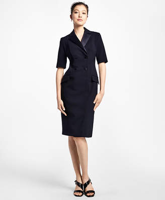 Brooks Brothers Double-Breasted Tuxedo Dress