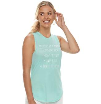 """Juniors' """"Obviously I'm A Mermaid"""" Graphic Tank"""