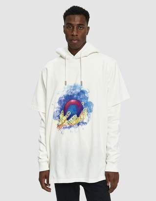 Off-White Off White L/S World Hand Hoodie Tee