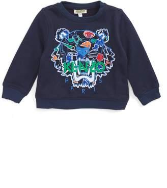 Kenzo Stripe Tiger Logo Sweatshirt