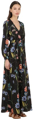 Borgo de Nor FRANCESCA VINTAGE FLORAL CREPE DRESS