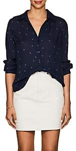 L'Agence Women's Nina Star-Print Silk Blouse - Navy