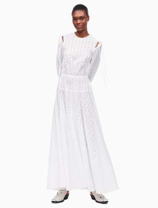 Calvin Klein open back a-line dress