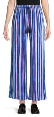Context Plus Striped Wide-Leg Pants