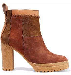 See by Chloe Claudia Patchwork Nubuck Ankle Boots