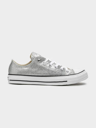 190ec75a6298 Converse Starry Night Chuck Taylor All Star Low-Top Sneakers in Silver  Glitter