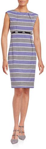 Calvin KleinCalvin Klein Striped Sheath Dress