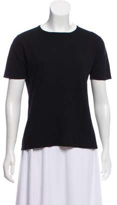 TSE Wool Short Sleeve Top