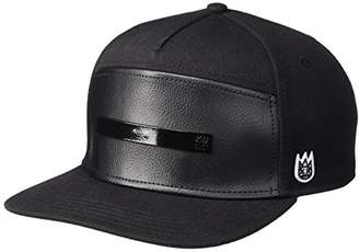 Cult of Individuality Men's Metal Logo-Leather Front Moto Hat