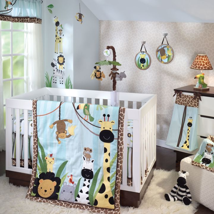 Lambs & Ivy Peek-a-Boo Jungle Bedding Collection