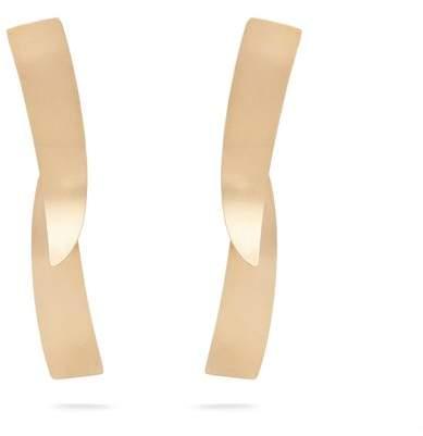 FAY ANDRADA Kapea curved brass earrings