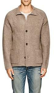 James Perse MEN'S WOOL-BLEND RELAXED CARDIGAN-BEIGE, TAN SIZE 3