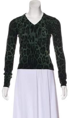 Dolce & Gabbana Cashmere Printed Cardigan w/ Tags