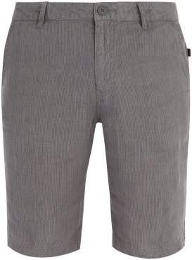 Onia Austin Gauze Linen Shorts - Mens - Dark Grey